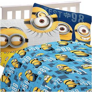 Minion Bed Sheets 3 piece Twin  Mishap  Set. Despicable Me 2 Decorations Giant Wall Decals   Despicable Me Best