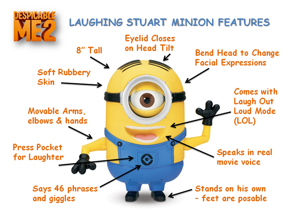 Minion Stuart Figure Minion Stuart Looks Just Like