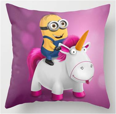 Despicable Me Minion Unicorn Throw Pillow