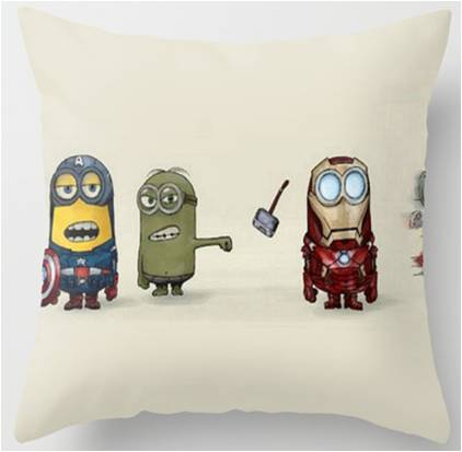 Despicable Me Minions Marvel Avengers Throw Pillow