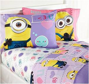 Despicable Me Pink Girls Full Sheet Set