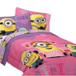 Girls Pink Despicable Me FULL Comforter Set