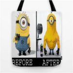 Minion Gym Rat Tote Bag