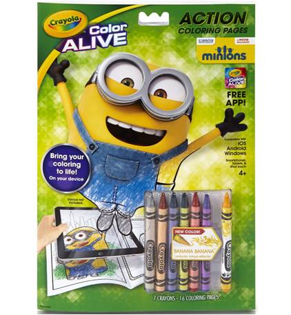 Cool Crayola Color Alive Minions Edition Coloring Book – Despicable ...