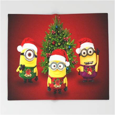 despicable me minions christmas sherpa throw blanket - Christmas Minions