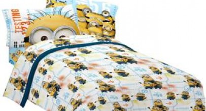 4piece despicable me full size bed sheets set