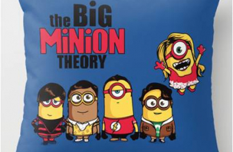 Deable Me Minions Meet Bang Theory Throw Pillow Best S